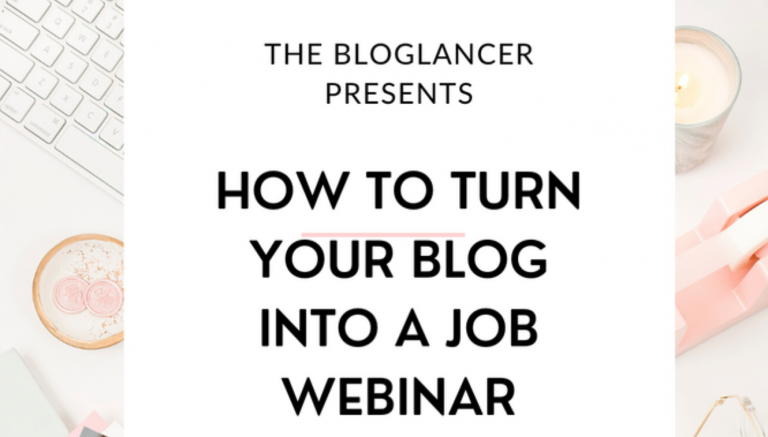 Turn Your Blog Into A Job